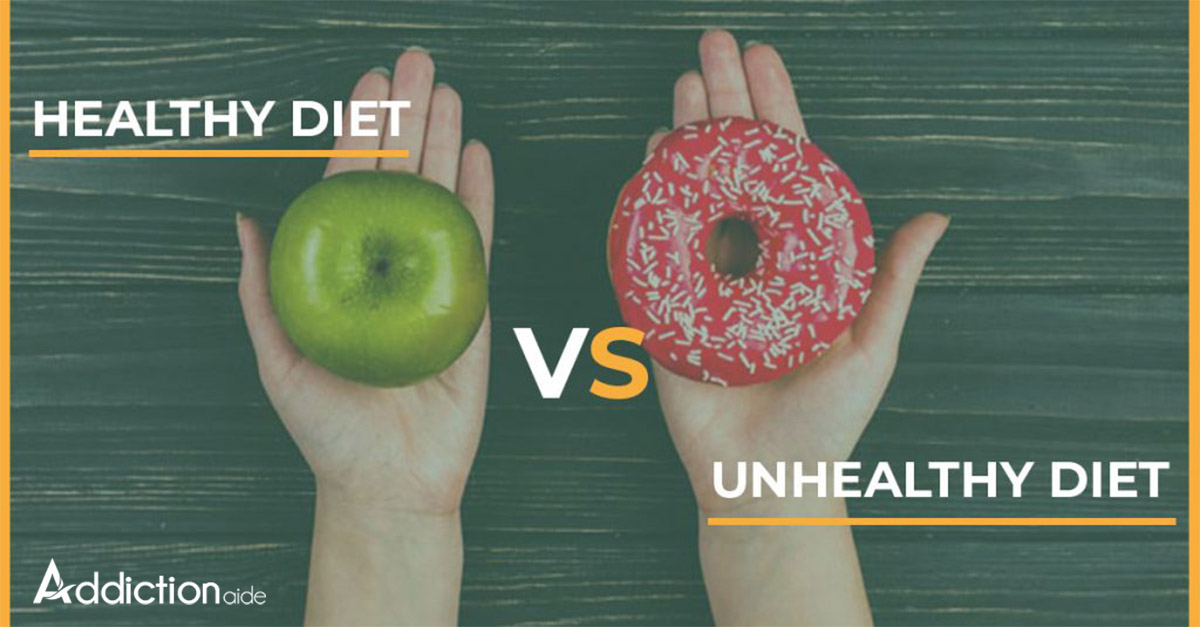 Healthy diet Vs Unhealthy diet
