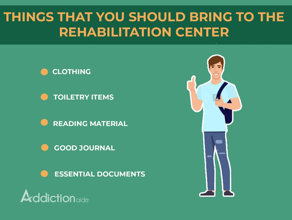 Things you should bring to a rehabilitation center
